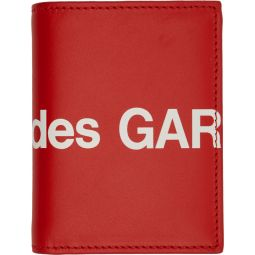 Red Huge Logo Bifold Card Holder