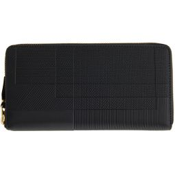 Black Intersection Zip Wallet