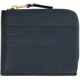Navy Intersection Half-Zip Wallet
