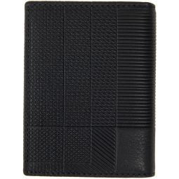 Black Intersection Bifold Card Holder