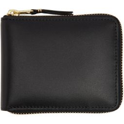 Black Line Zip Around Wallet