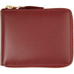 Red Classic Logo Zip-Around Wallet