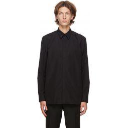 Black Embroidered Collar Shirt
