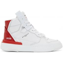 White & Red Wings Sneakers