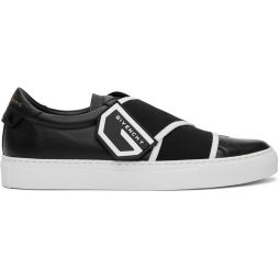 Black Crossed Strap Urban Knots Sneakers