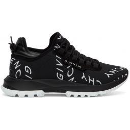 Black Refracted Logo Spectre Runner Sneakers