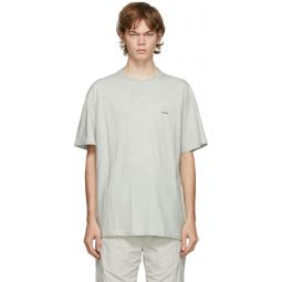 Grey Crooked Panelled T-Shirt