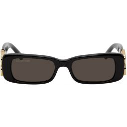Black BB Rectangular Sunglasses
