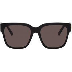 Black Acetate Cat-Eye Sunglasses