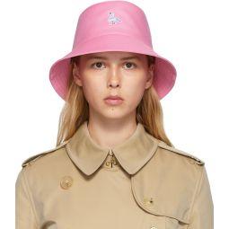 Pink Swan Applique Bucket Hat