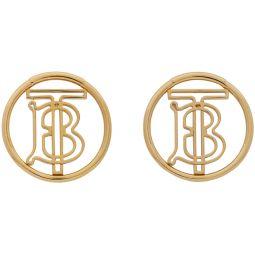 Gold Monogram Hoop Earrings