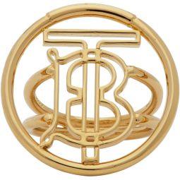 Gold Large Monogram Motif Ring