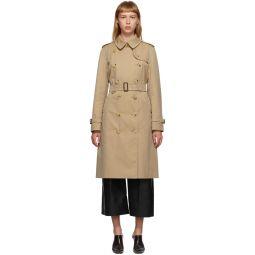 Beige Long Kensington Trench Coat