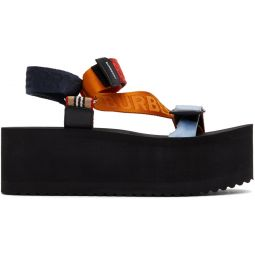 Multicolor Flat Sandals