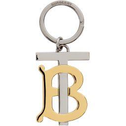 Gold & Silver Monogram Keychain