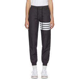 Grey 4-Bar Track Pants