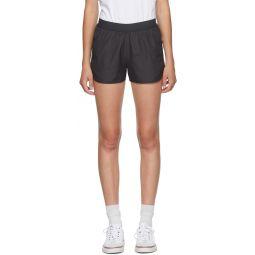 Grey 4-Bar Running Shorts