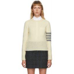 Off-White Shetland Wool 4-Bar Sweater