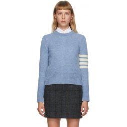 Blue Shetland Wool 4-Bar Sweater