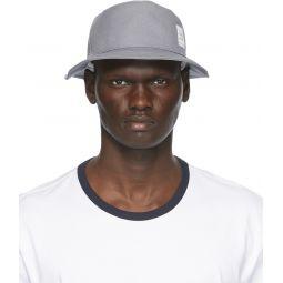 Grey Canvas Classic Bucket Hat