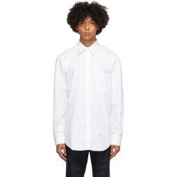 White Mono Oxford 4-Bar Classic Shirt