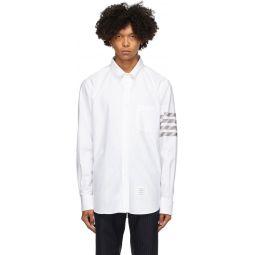 White Oxford 4-Bar Straight Fit Shirt