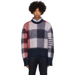 Red & Blue Fun Mix Buffalo Check Sweater