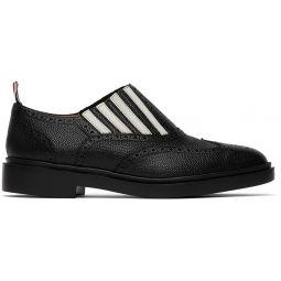 Black 4-Bar Slip-On Chelsea Loafers