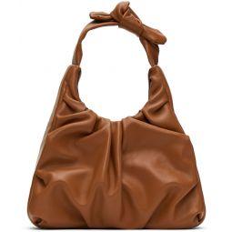 Tan Leather Palm Bag
