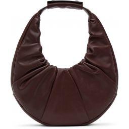 Burgundy Soft Moon Bag