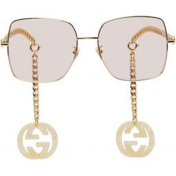 Gold & Pink GG0724S Sunglasses