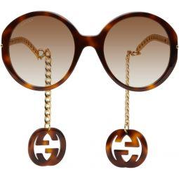Tortoiseshell & Gold GG0726S Sunglasses
