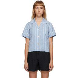 Blue GG Stripe Shirt