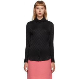 Black Silk GG Shirt