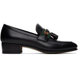 Black Web Interlocking G Loafers