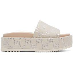 Off-White GG Lame Platform Sandals