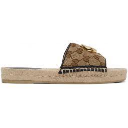 Beige GG Espadrille Sandals