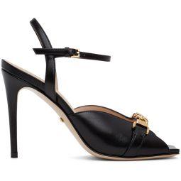 Black Sylvie Chain Slingback Heels