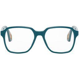 Navy Square Glasses