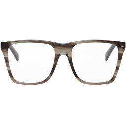 Brown Transparent Square Glasses