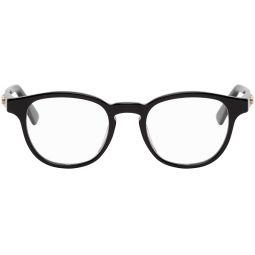 Black GG Plaque Round Glasses