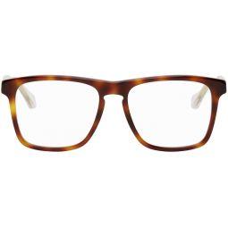 Tortoiseshell & Transparent Square Glasses