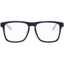 Blue & Transparent Square Glasses