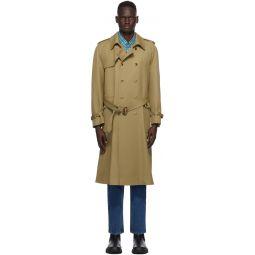 Tan Wool Trench Coat