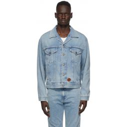 Blue Light Washed Denim Jacket