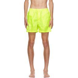 Yellow VLogo Swim Shorts