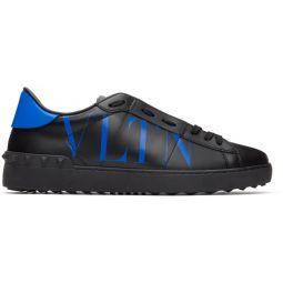 Black & Blue Valentino Garavani 'VLTN' Open Sneakers