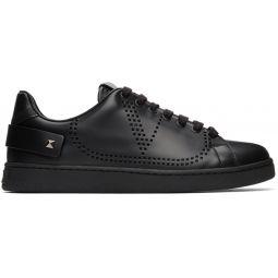 Black Valentino Garavani VLogo Backnet Sneakers