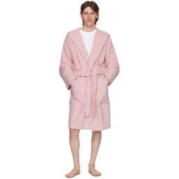 Pink Hooded Bathrobe