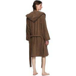 Brown Hooded Bathrobe